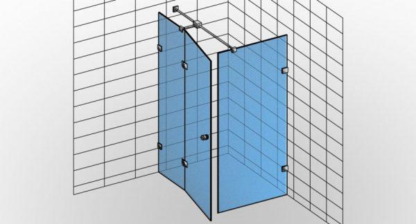 Kabina prysznicowa narożna TYP 1 Styl-N-001 - KabinyPrysznicowe.com