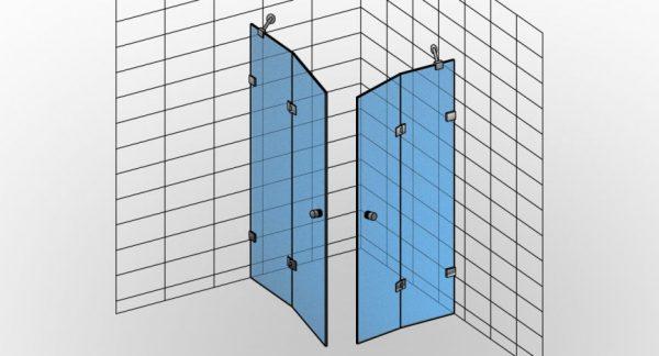 Kabina prysznicowa narożna TYP 3 Styl-N-003 - KabinyPrysznicowe.com