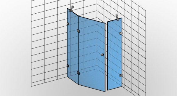 Kabina prysznicowa narożna TYP 4 Styl-N-004 - KabinyPrysznicowe.com