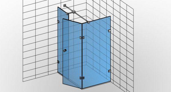 Kabina prysznicowa narożna TYP 11 Styl-N-011 - KabinyPrysznicowe.com