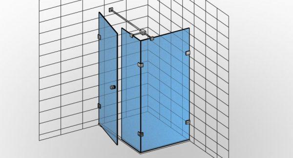 Kabina prysznicowa narożna TYP 13 Styl-N-013 - KabinyPrysznicowe.com