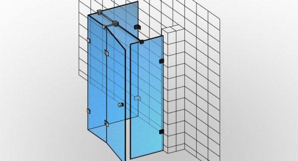 Kabina prysznicowa niestandardowa na wymiar TYP 2 Styl-I-002 - KabinyPrysznicowe.com